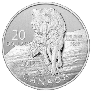 $20 Fine Silver Coin - Wolf