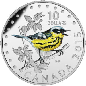 2015 $10 Fine Silver Coin- The Magnolia Warbler
