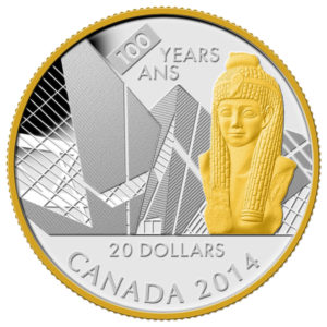 129273-2014 $20 Fine Silver Coin - 100th Anniversary of the Royal Ontario Museum - Front