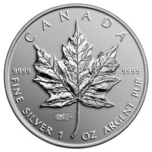 129449-2014 $5 Fine Silver Coin - Bullion Replica with World Money Fair Privy Mark - Front