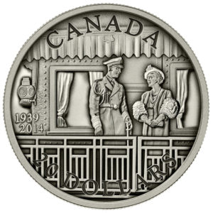 130052-2014 $20 Fine Silver Coin - 75th Anniversary of the First Royal Visit - Front