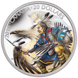 130508-2014 $20 Fine Silver Coin - Legend of Nanaboozhoo - Front