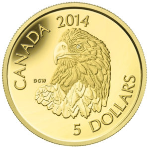 130527-2014 $20 Fine Gold Coin - Bald Eagle - Front