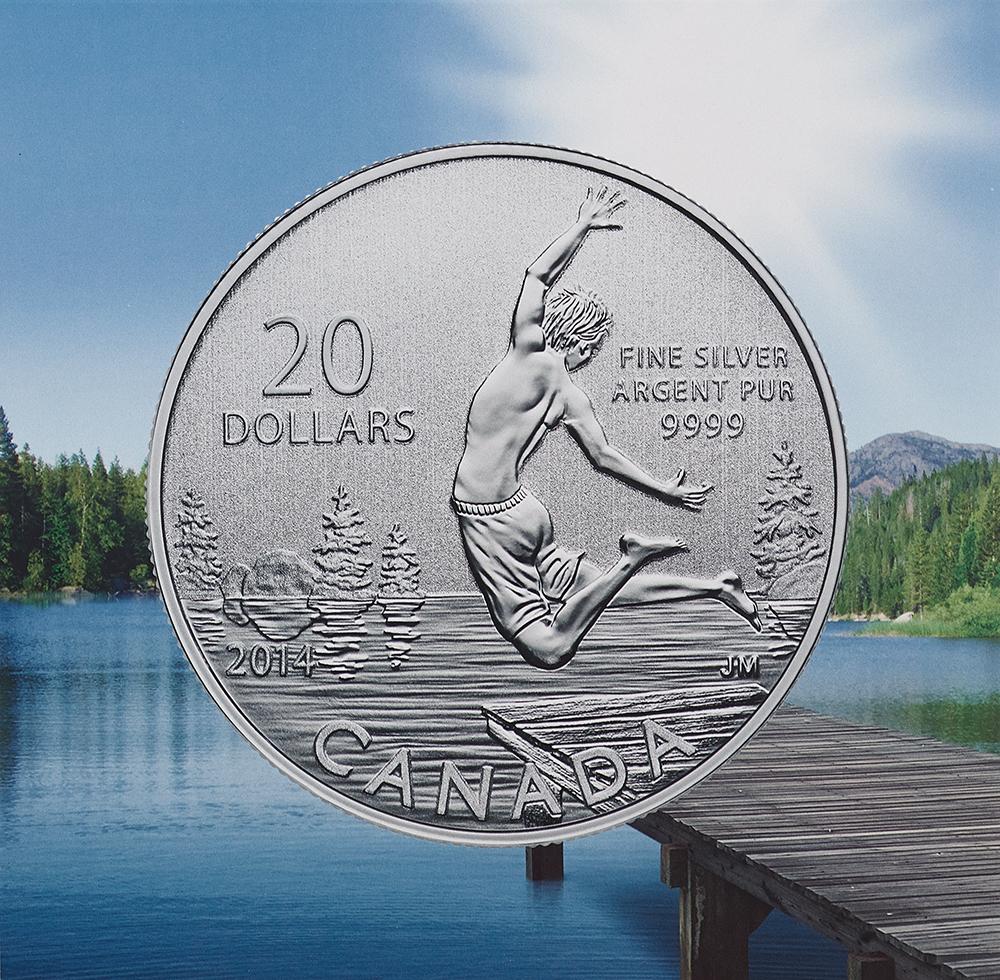 Canada Goose montebello parka replica shop - $20 Fine Silver Coin - Summertime (2014)