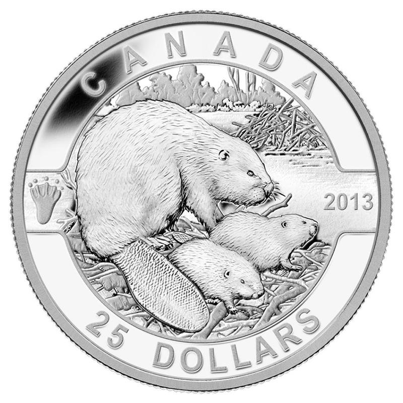 2013 25 Fine Silver Coin O Canada The Beaver